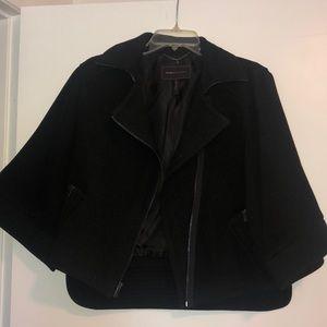 BCBG Black Cape Coat